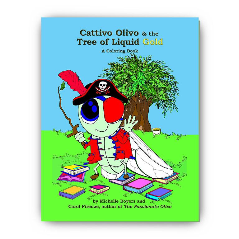 cattivo olivo the tree of liquid gold a coloring book